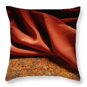 Rusty Silk Throw Pillow