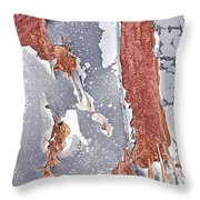 Rusty Silver And Brown Throw Pillow
