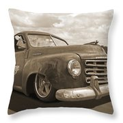 Rusty Studebaker In Sepia Throw Pillow