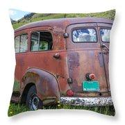 Rusty Suburban Throw Pillow