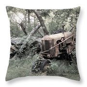 Rusty Tractor 2  Throw Pillow