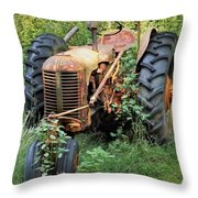 Rusty Tractor 3  Throw Pillow