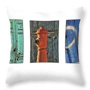 Rusty Triptych Throw Pillow
