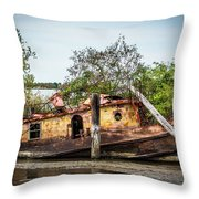 Rusty Tug Throw Pillow