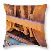 Rusty Wheels  Throw Pillow
