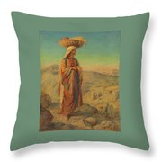 Ruth  An Eastern Gleaner Throw Pillow