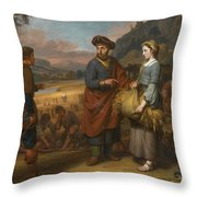 Ruth And Boaz Throw Pillow