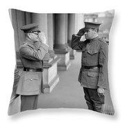Ruth & Pershing, 1924 Throw Pillow by Granger