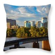 Rva Sunset Throw Pillow