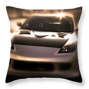 Rx8 Glow Throw Pillow