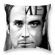 Ryan Gosling And George Clooney Throw Pillow
