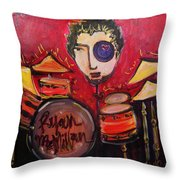Ryan Macmillan And His Drums Throw Pillow