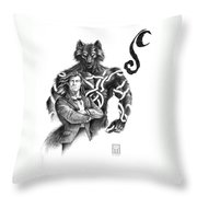 Ryan With Werewolf Throw Pillow