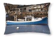 Rye Harbor - Rye New Hampshire Usa Throw Pillow