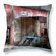 Rye Valley Stock Farm Throw Pillow