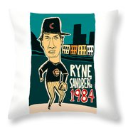 Ryne Sandberg Chicago Cubs Throw Pillow