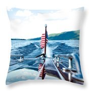 Ryp'd View Of Lake George, Ny Throw Pillow