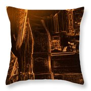 Rythmn In Gold Throw Pillow