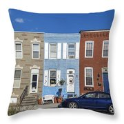S Baltimore Row Homes - Wide Throw Pillow