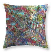 's' Curve In The Winter Of The White Horse Throw Pillow