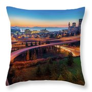 S For Seattle Throw Pillow