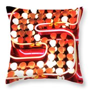 S In Lights Throw Pillow
