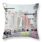 S. Main Street In Ann Arbor Michigan Throw Pillow