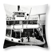 S. P. Ferry Alameda At San Francisco Circa 1940 Throw Pillow