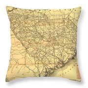 Sc Railroads Throw Pillow