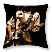 S#33 Enhanced In Amber Throw Pillow