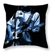 S#33 Enhanced In Blue Throw Pillow