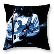 S#37 Enhanced In Blue Throw Pillow