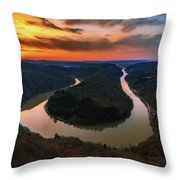 Saarschleife Throw Pillow