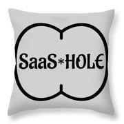 Saas Hole Throw Pillow