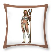 Sabby Lessa Woman Warrior Throw Pillow