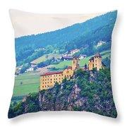 Saben Abbey On High Cliff Near Klausen View Throw Pillow