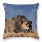 Saber-toothed Hunter Throw Pillow