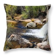 Sabino Creek Falls Throw Pillow