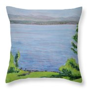Sacandaga Lake Throw Pillow