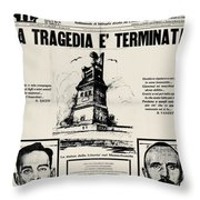 Sacco And Vanzetti Front Page Throw Pillow