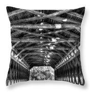 Sachs Bridge - Gettysburg - Bw-hdr Throw Pillow