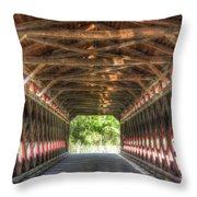 Sachs Bridge - Gettysburg - Vert.-hdr Throw Pillow