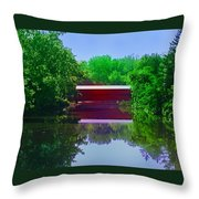 Sachs Covered Bridge - Gettysburg Pa Throw Pillow