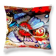 Sackettdoodles Butterfly Throw Pillow