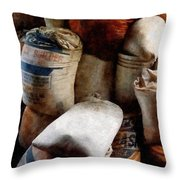 Sacks Of Feed Throw Pillow