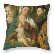 Sacra Conversazione 1520 Throw Pillow