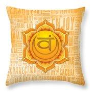 Sacral Chakra - Awareness Throw Pillow