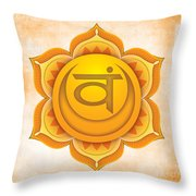 Sacral Chakra Throw Pillow by David Weingaertner