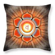 Sacral Chakra - Series 4 Throw Pillow