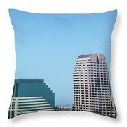 Sacramento California Cityscape Skyline On Sunny Day Throw Pillow